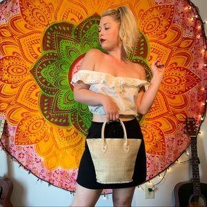 Woven Victoria Secret Bag